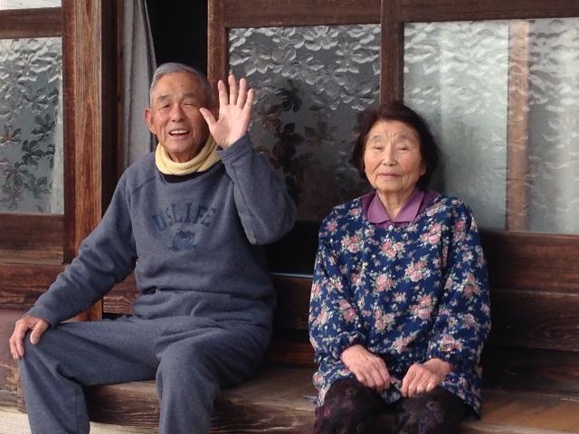 日本の老夫婦
